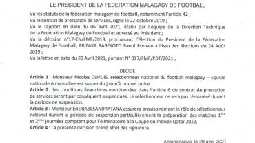 DECISION DE LA FMF