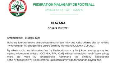 COMMUNIQUE – COSAFA CUP 2021